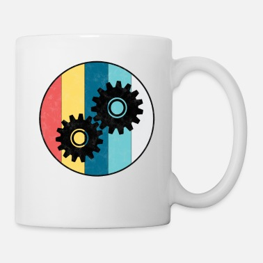 Mechanic Engineer vintage gear mechanic profession gift - Mug