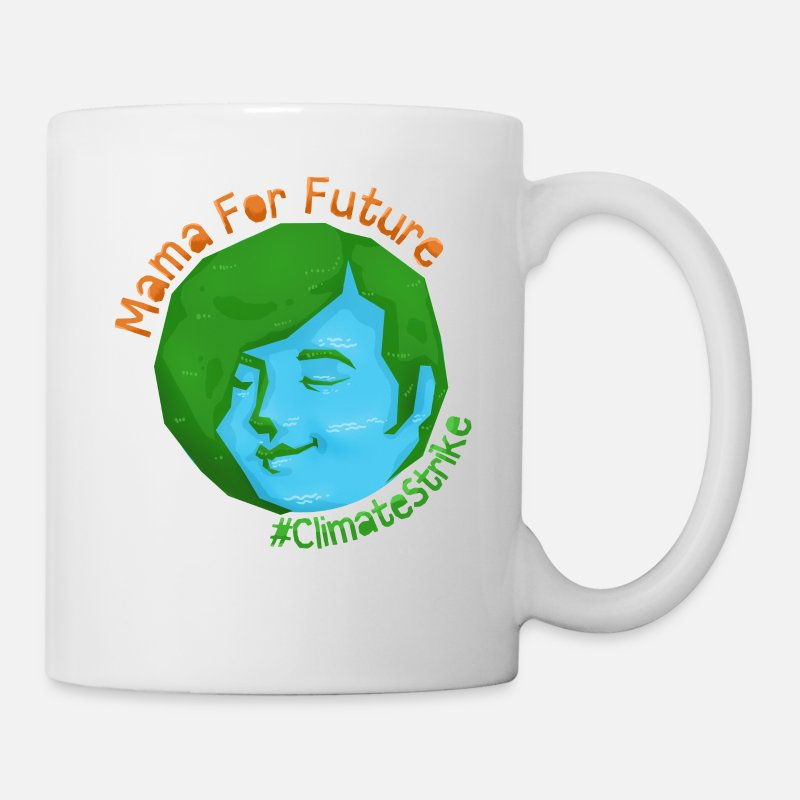 Sustainable Mugs & Drinkware - Climate change environmental protection Mother's Day gift - Mug white