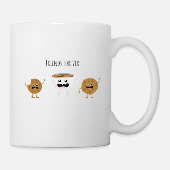 Love Mugs & Drinkware - Coffee biscuit biscuit Best friends - Mug white