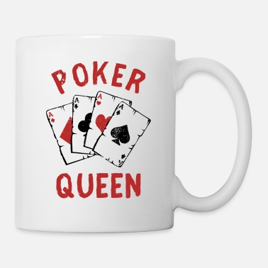 Cards Poker Queen Cards Player Bluff Trick Gift - Mug
