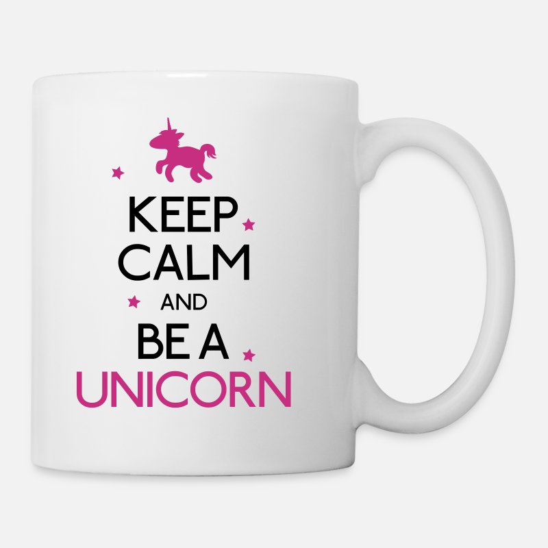 Eenhoorn Mokken & toebehoor - keep calm and be a unicorn - Mok wit