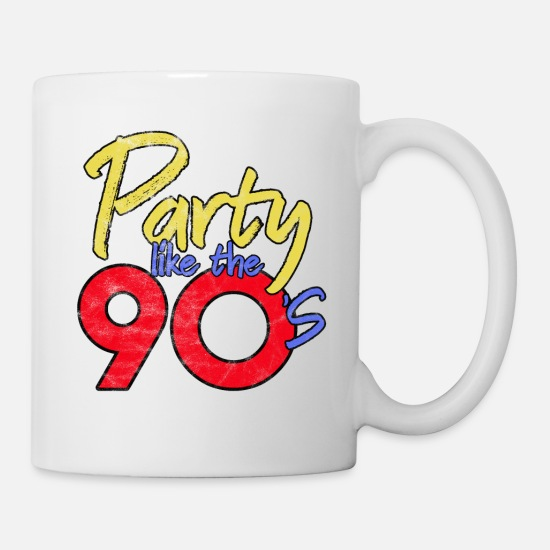 Schlager Mugs et récipients - COLORF OUT'S 90 OUT RETRO OLDSCHOOL CADEAU - Mug blanc