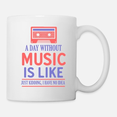 Roller Music Like Retro Kassette - Tasse