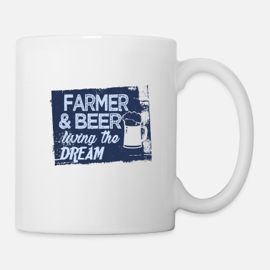Job Farmer & Beer vit le rêve - Mug