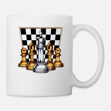 Scacchi King Lady Runner Tower Springer Bauer Chessboard - Tazza