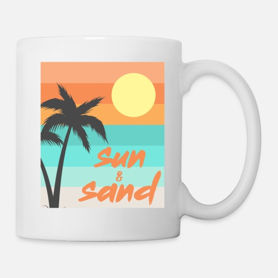 Sand Mugs & Drinkware - Sun & sand beach summer sea - Mug white
