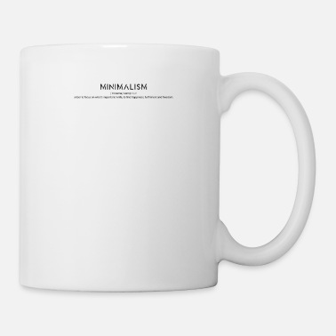 Fulfil MINIMALISM Definition of the word -minimalist shirt - Mug