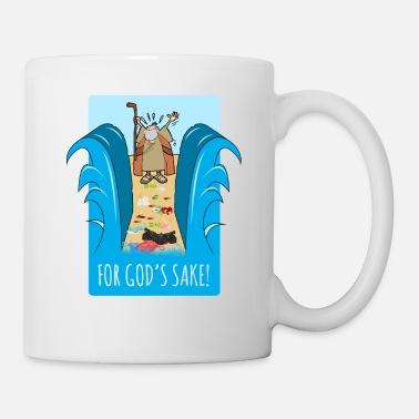 Moses For heaven's sake! Garbage plastic ocean shirt - Mug