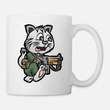 Bundeswehr soldier cat kitten gun soldier - Mug