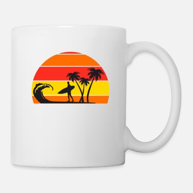 B Surfing Surfers Surfing Surfboard Wave Funny - Mug
