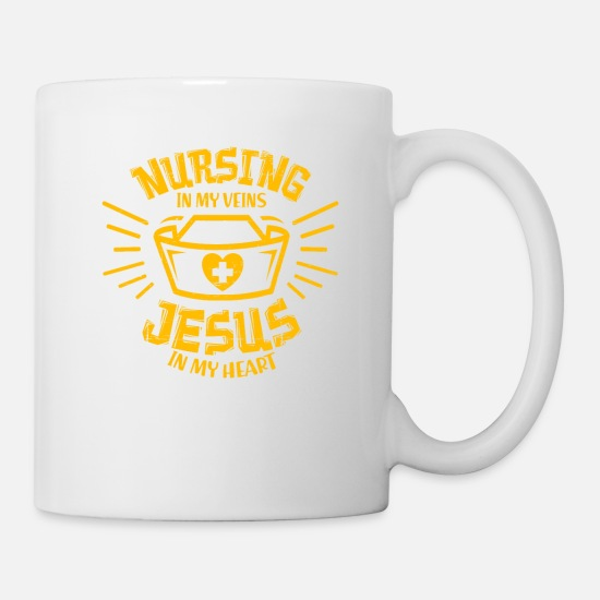 Gift Idea Mugs & Drinkware - Nurse Jesus Christ church gift - Mug white