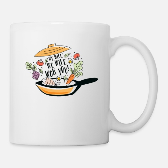 Soup Mugs & Drinkware - We want Wok you - Mug white