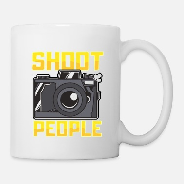 Funny Jokes Funny I Get Paid To Shoot People Photography Pun - Mug