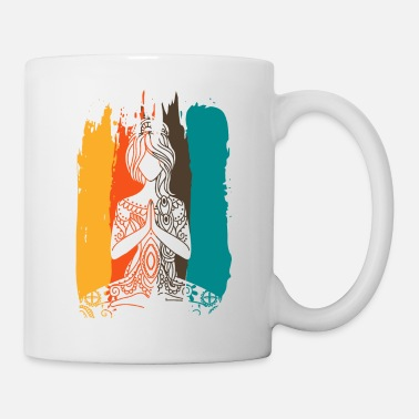 Adult Yoga meditation woman -color scheme - Mug