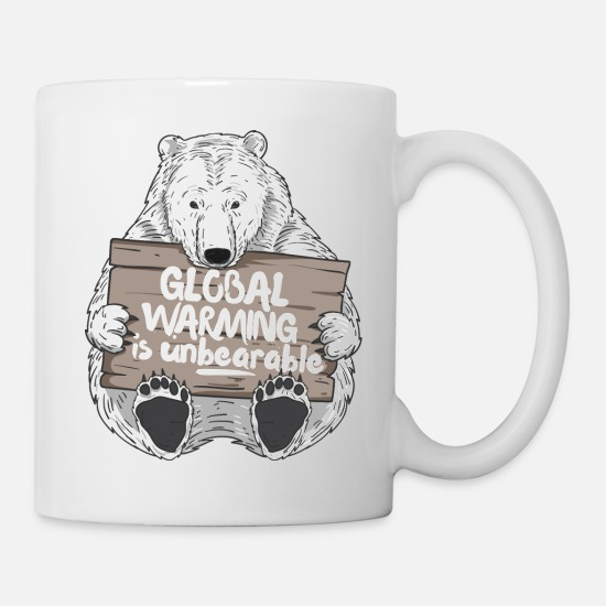 Carbon Dioxide Mugs & Drinkware - Climate Change Global Warming is Unbearable Climate - Mug white