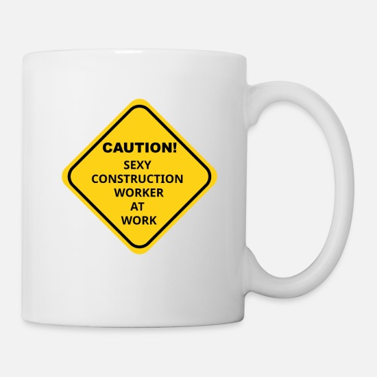Building Site Mugs & Drinkware - Construction Worker - Mug white
