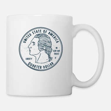Monetary COIN COLLECTOR: USA Quarter Dollar Design Gift - Mug