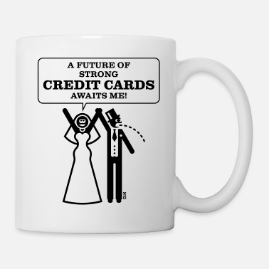Stag Party A Future Of Strong Credit Cards … (Wedding, Bride) - Mug
