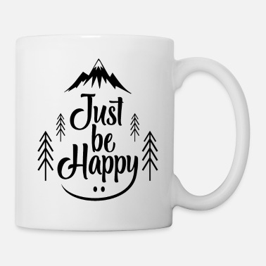 Trekking Just Be Happy bw - Tasse