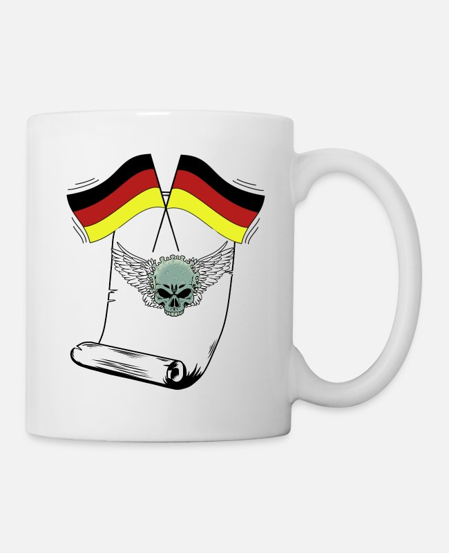 Epidemic Mugs & Drinkware - Basic Law Mouth Guard Virus Corona Germany - Mug white
