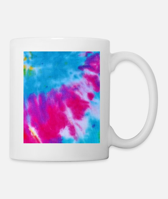 Teenager Mugs & Drinkware - Gift Abstract Color Pattern Retro Pink Blue - Mug white