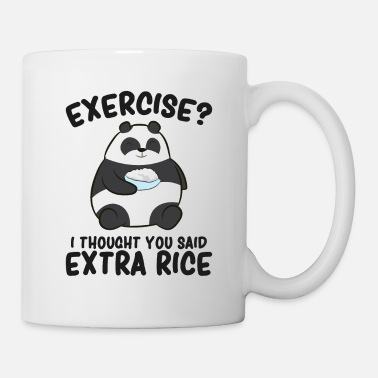 Exercise Panda Exercise I Thought You Said Extra Rice Cute - Mug