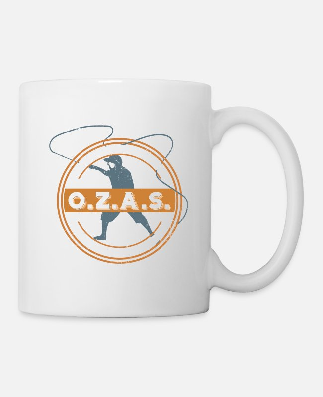 Sport Fishing Mugs & Drinkware - Fishermen When river fishing - recreational fishing - Mug white