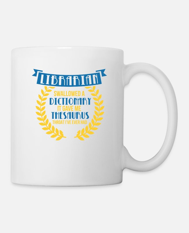 Read Mugs & Drinkware - Proud saying for librarians - library - Mug white
