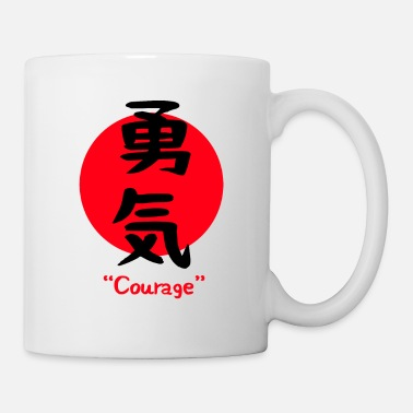 Japan Japanese character for courage bravery symbol - Mug