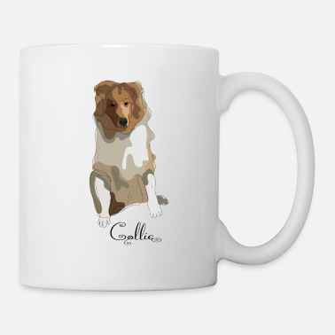 Long-haired Long-haired Herd Dog Collie rough long hair collie - Mug