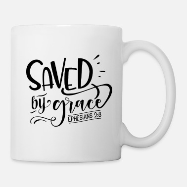 Sauvé par Grace, verset de la Bible, citation de la Bible - Mug