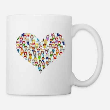 Feather Little angels heart - Mug