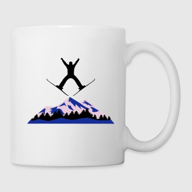 ski and mountain, ski jumping - Mug
