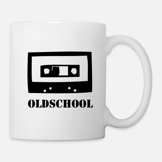 Retro Mugs & Drinkware - Oldschool Cassette Retro Vintage Tape 80s Music - Mug white