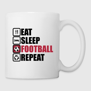 eat sleep football - Kop/krus