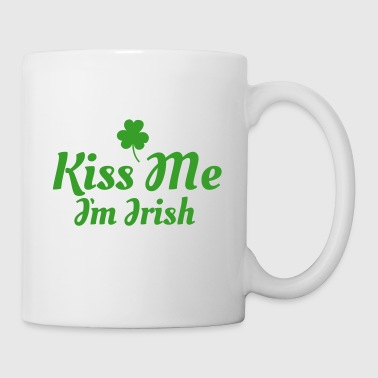 kiss me im Irish excellent - Mug blanc