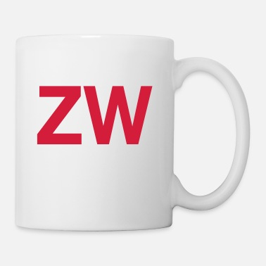 Inicial Iniciales ZW - Taza