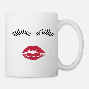 Eye Eye lashes and kiss. - Mug