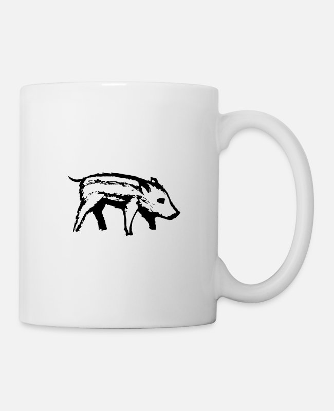 BBQ Mugs & Drinkware - Piglet | Piggy | black - Mug white