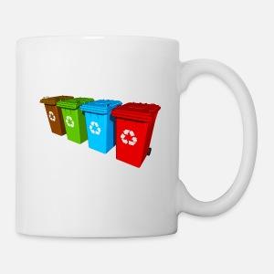 Séparation Gestion Recyclage Des Thermos Mug De Muellone Blanc Déchets ulc35KF1JT