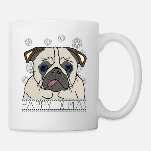Pug Puppy Dog Funny Animals Christmas Snow Mug Spreadshirt