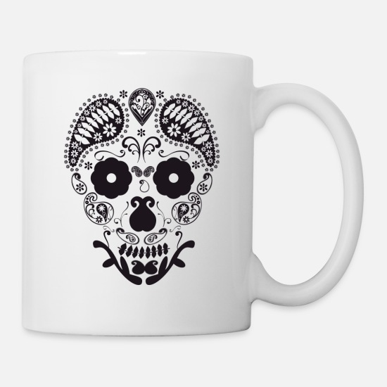 Design Mugs & Drinkware - Skull decorative - Mug white