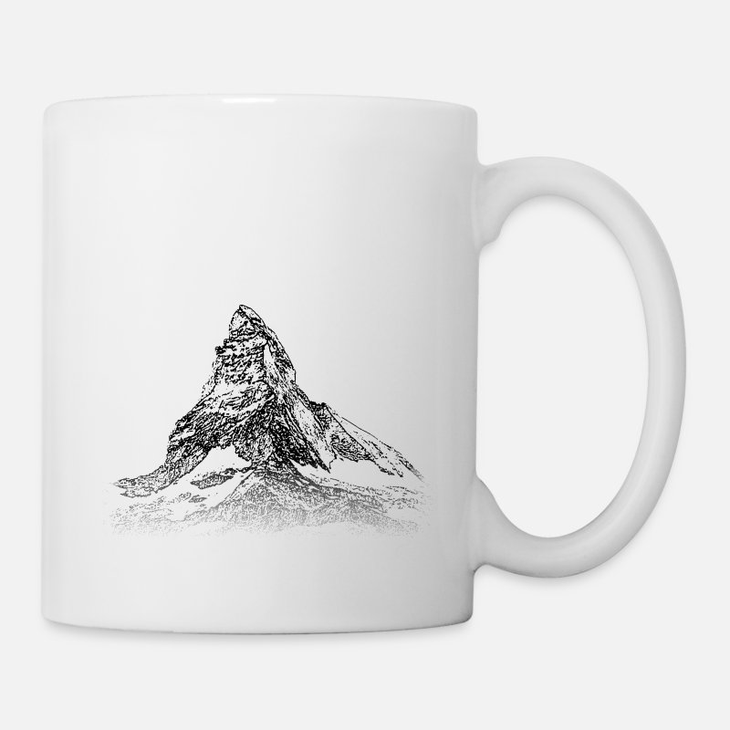 Suisse Mugs et récipients - Around The World: Matterhorn - Zermatt - Mug blanc