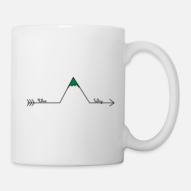 Berchtesgaden Hiking Arrow This Way Retro Design Wanderlust - Mug