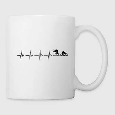 Performance Impulsion de patineur de vitesse - Mug blanc