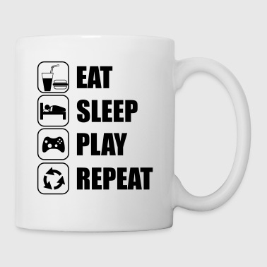 Eat Sleep Play Repeat - Taza