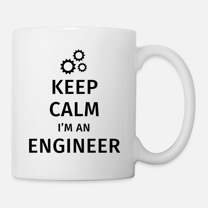 Ingeniero Tazas y accesorios - Keep Calm I'm an Engineer - Taza blanco