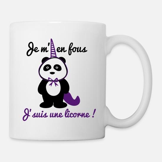 Licorne Je Une Citations J'suis Blanc Fous Mug M'en Panda orWxBCde