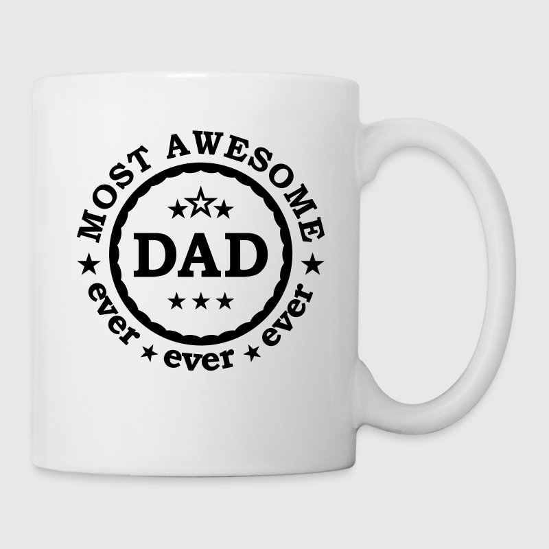 Most awesome Dad ever - bester  Papa Vatertag - Tasse