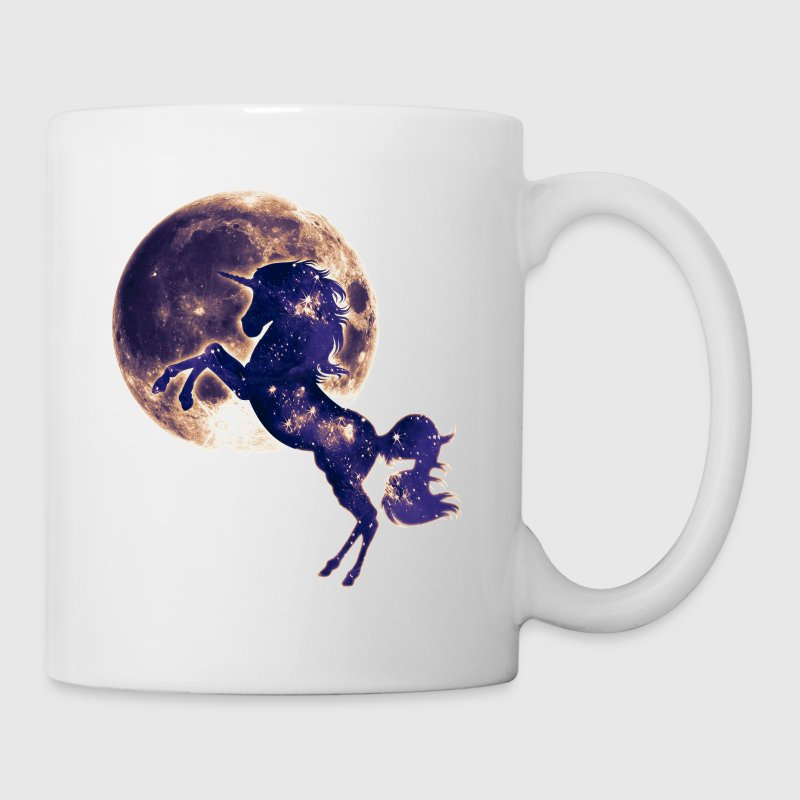 Unicorn full moon, galaxy, space, horse, fantasy - Mug